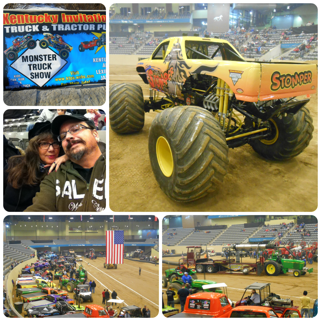 truck pull collage