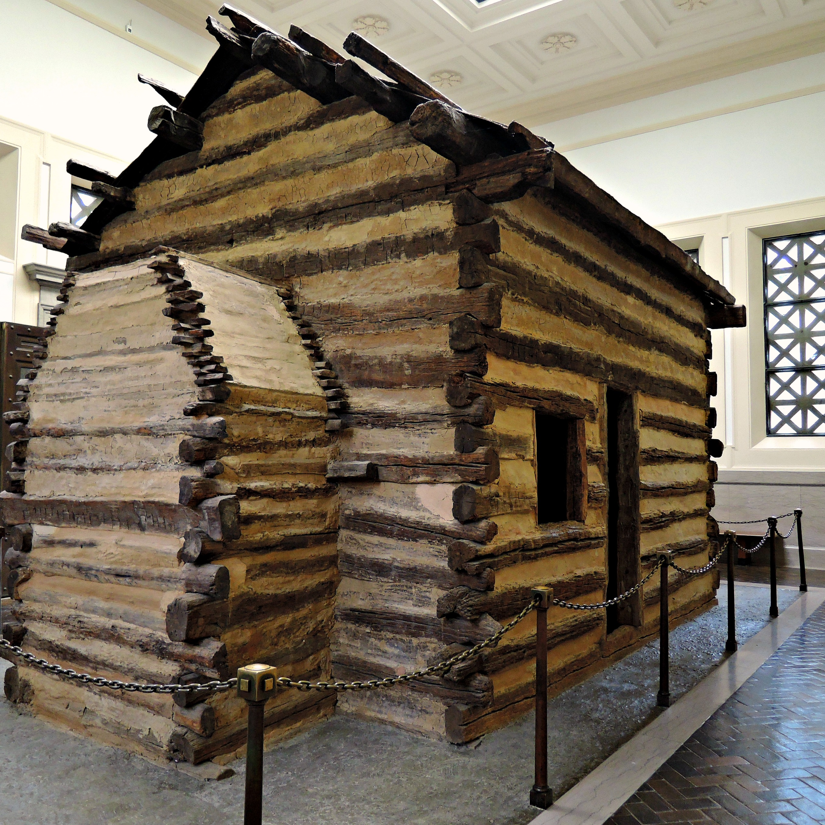 Very Impressive portraiture of log cabin with #386693 color and 2709x2709 pixels